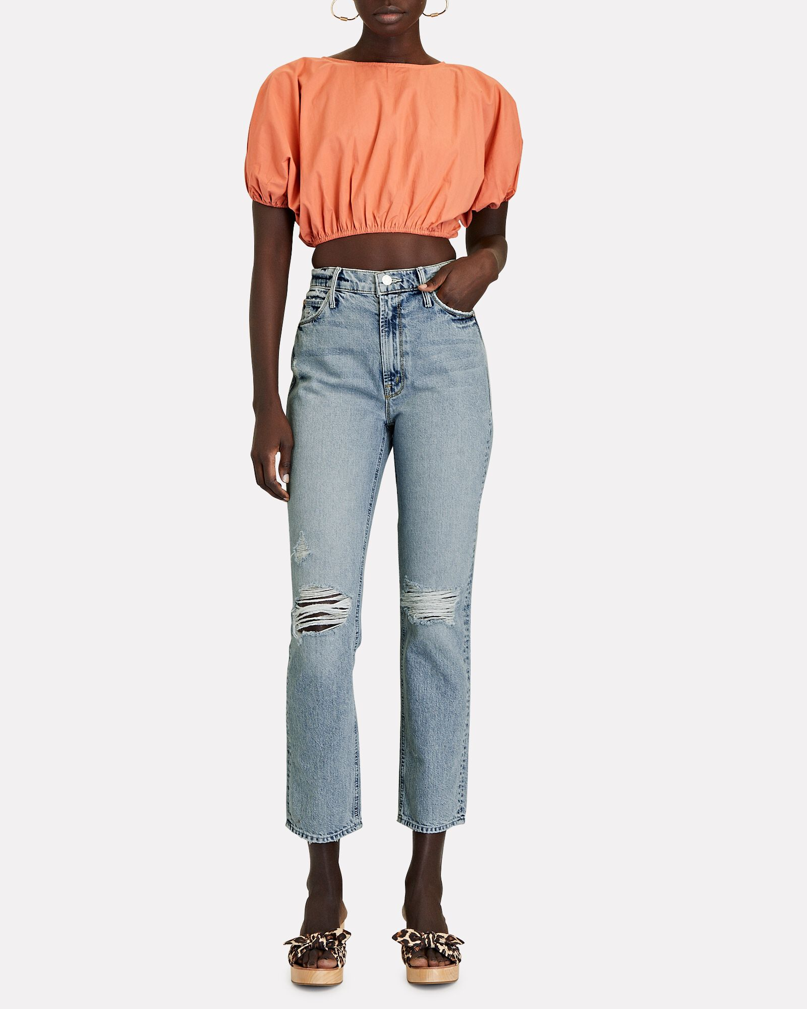 The Dazzler Distressed Ankle Jeans, LOST IT, hi-res