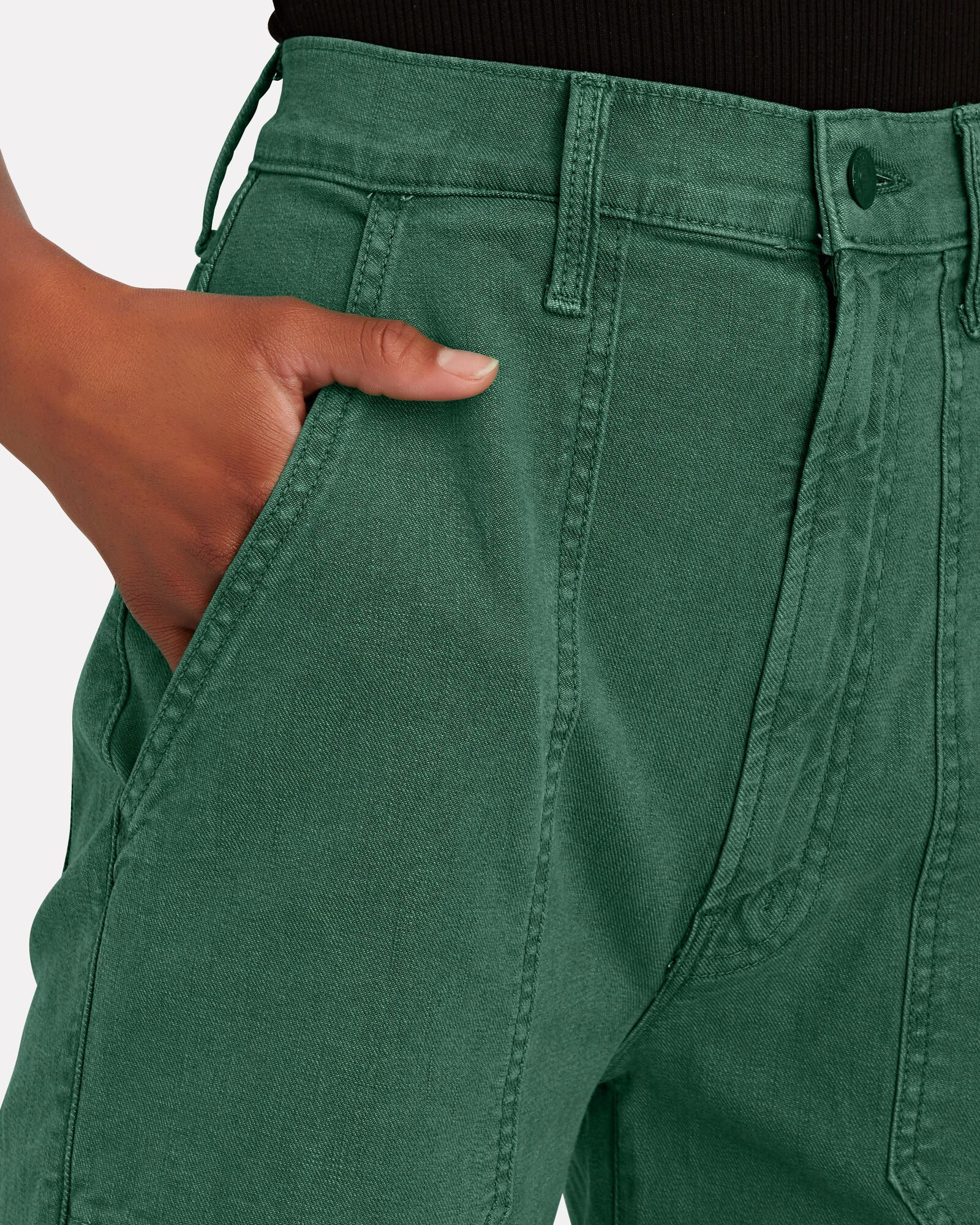 The Wrapper High-Rise Jeans, ARMY, hi-res