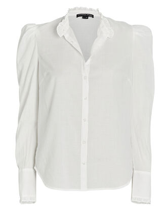 Holli Cotton Button-Down Shirt, , hi-res