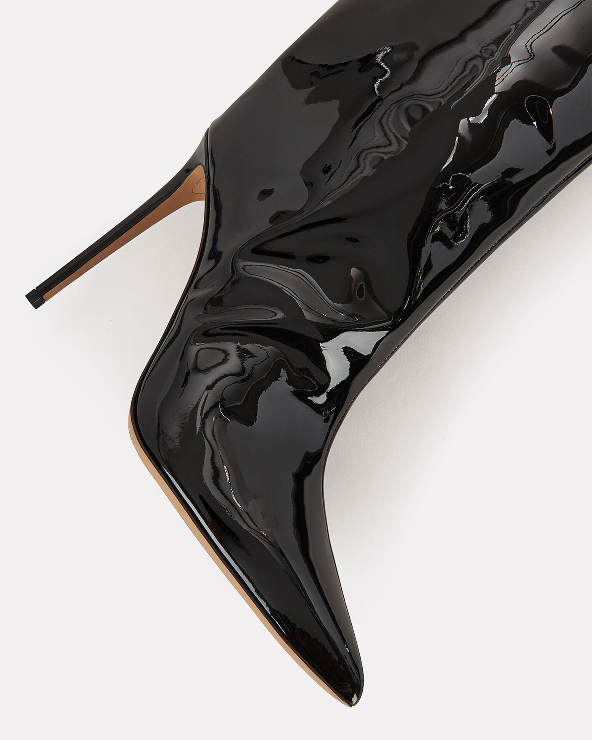 Alex Patent Leather Black Boots, BLACK, hi-res