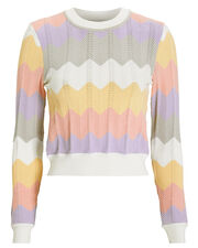 Jada Knit Chevron Sweater, BLUSH/YELLOW/PURPLE, hi-res
