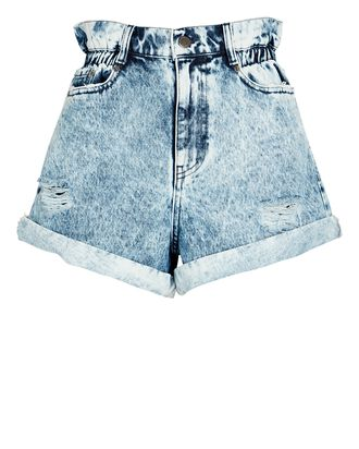 Haisley Acid Wash Denim Shorts, DENIM, hi-res