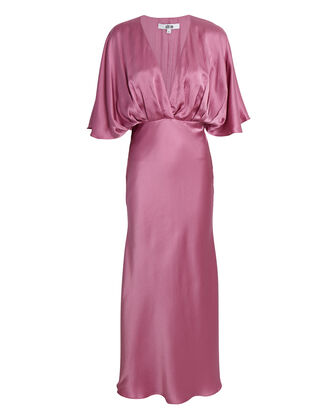 Isabelle Silk Midi Dress, PINK, hi-res