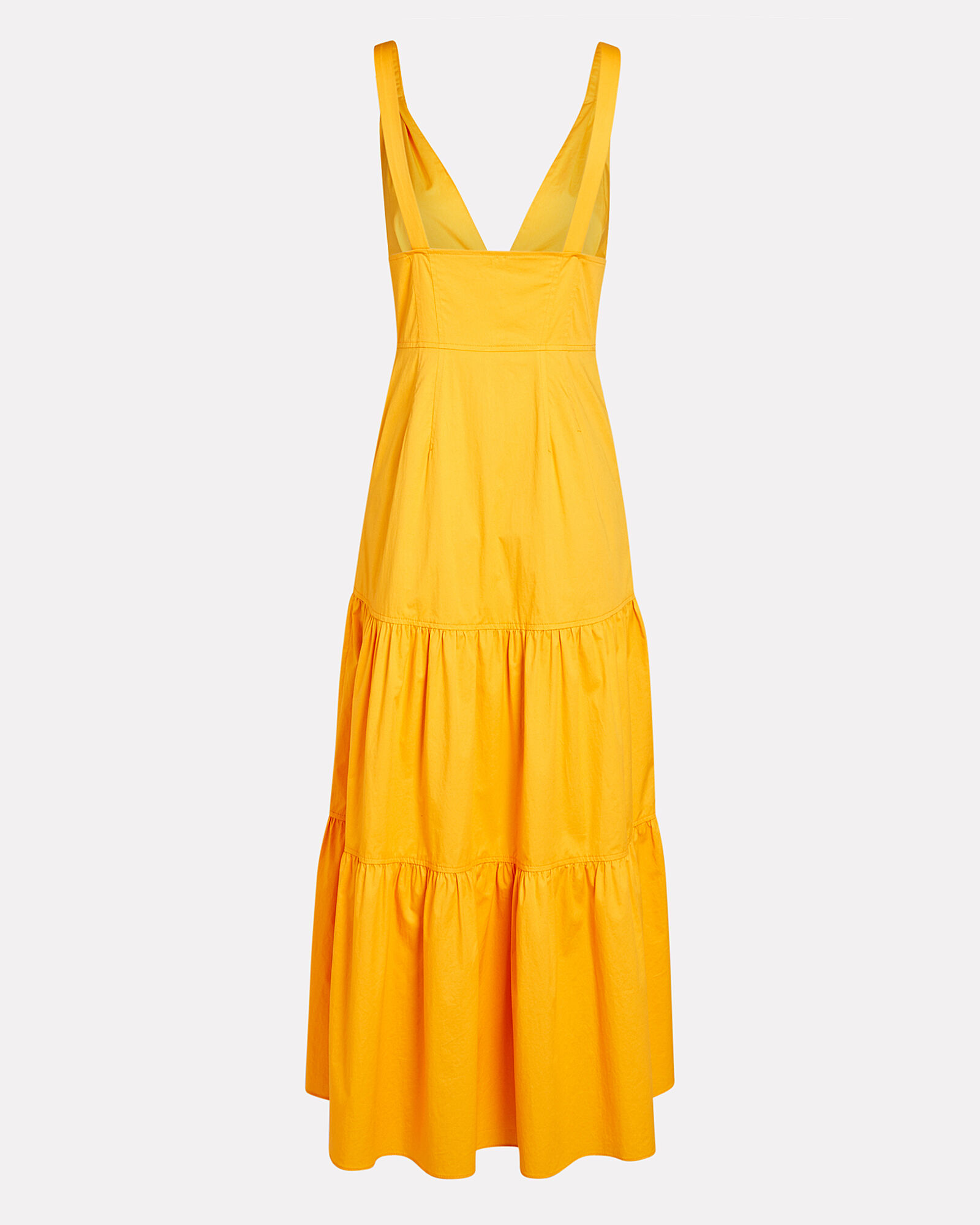 Jordyn Poplin Button-Down Midi Dress, YELLOW, hi-res