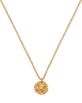An Unspoken Trust Medal Necklace, GOLD, hi-res
