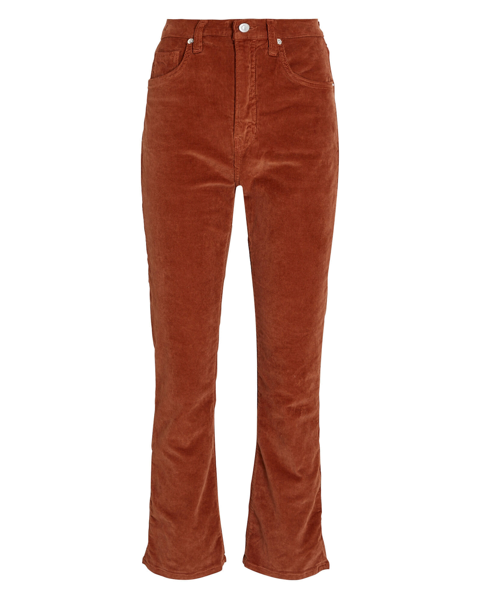 Carly Corduroy Kick Flare Pants, ORANGE, hi-res