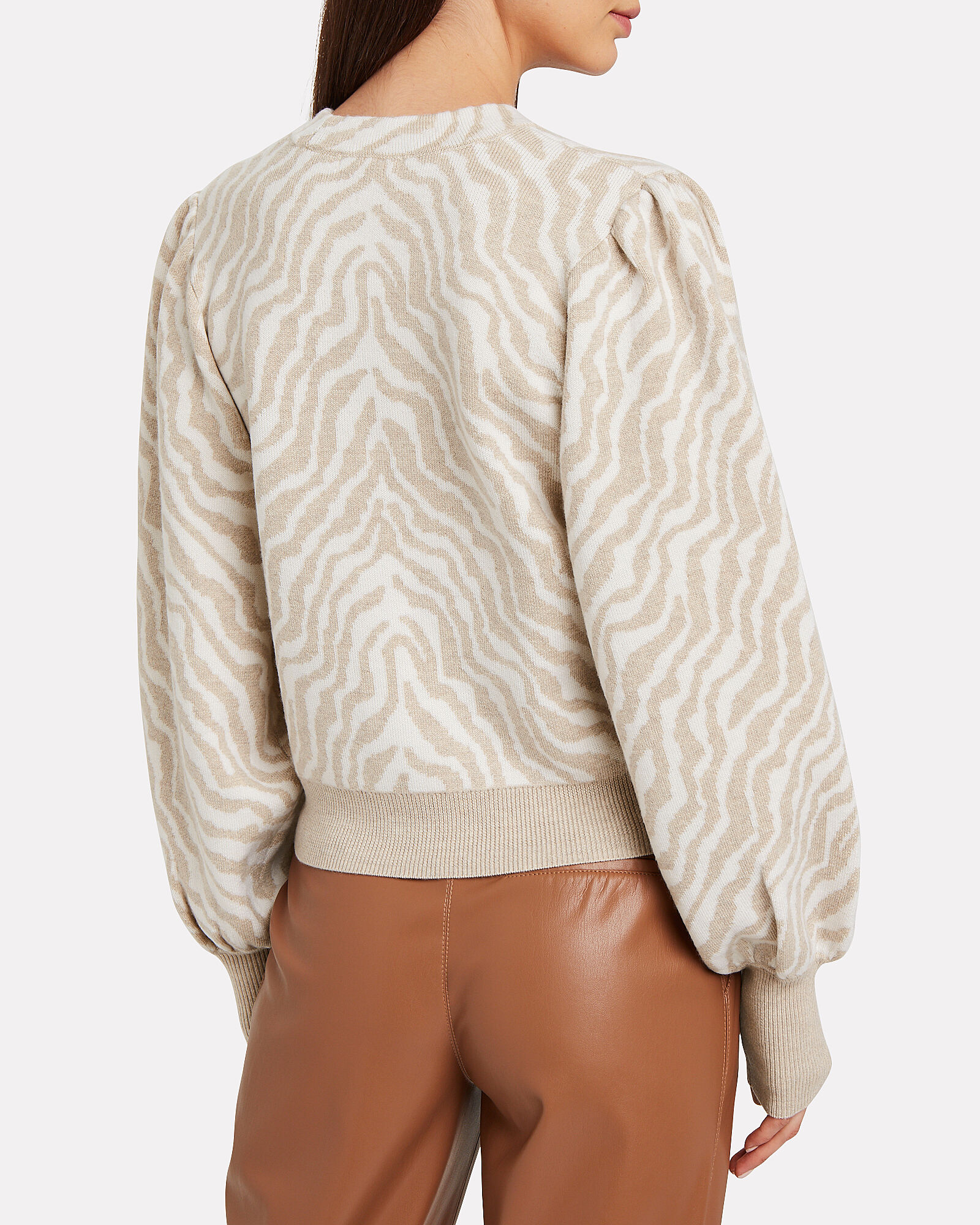 Cici Zebra Knit Wool Cardigan, CREAM/ZEBRA, hi-res