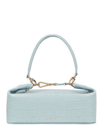 Olivia Croc-Embossed Leather Bag, POWDER BLUE, hi-res