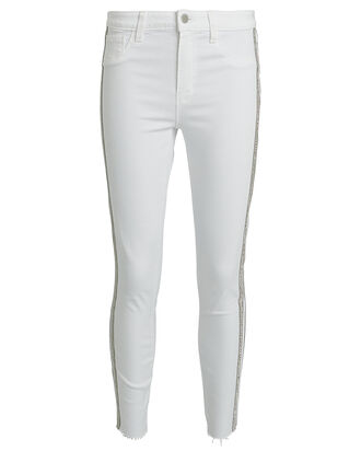 Margot Crystal Stripe Skinny Jeans, WHITE, hi-res