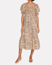 De Christin Tiger Stripe Midi Dress, MULTI, hi-res