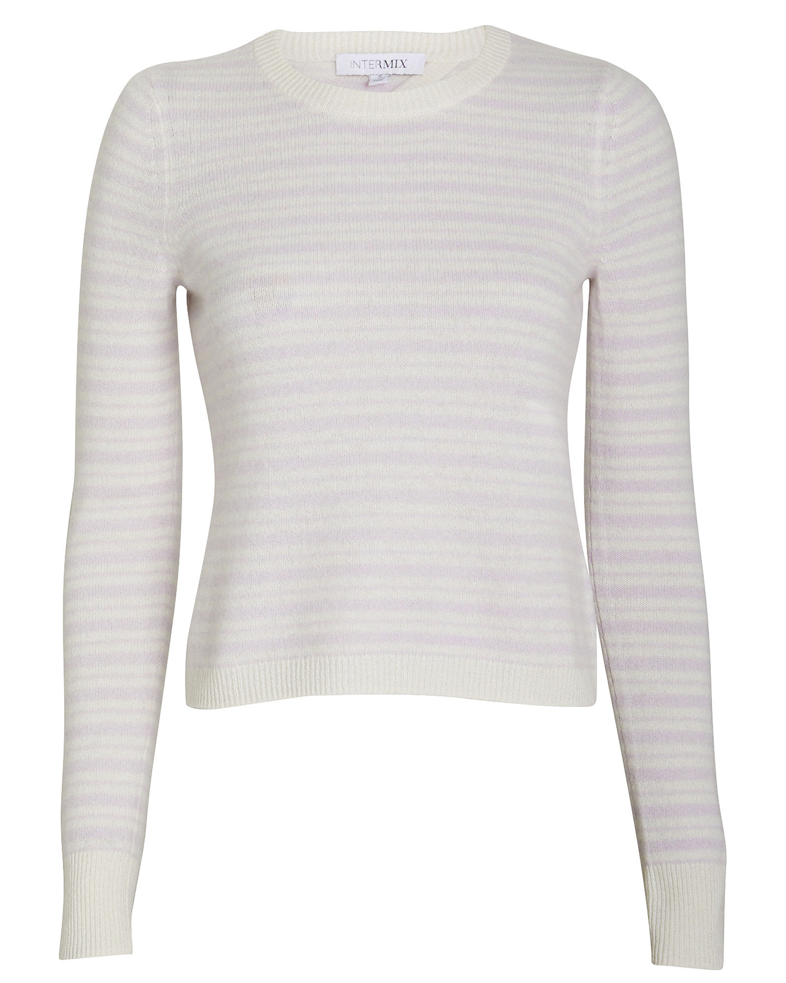 Noelle Striped Cashmere Sweater, LAVENDER/STRIPE, hi-res