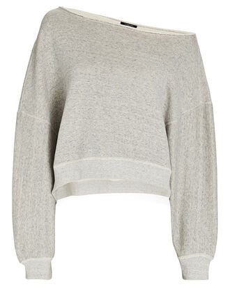 Patti Off-the-Shoulder Sweatshirt, GREY, hi-res