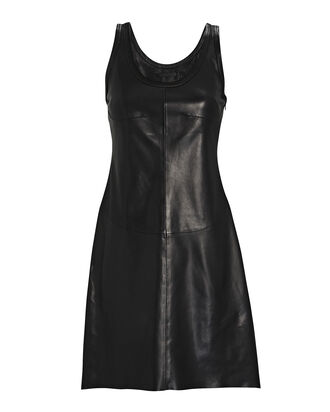 Leather Tank Dress, BLACK, hi-res