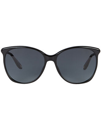 Round Black Sunglasses, BLACK, hi-res