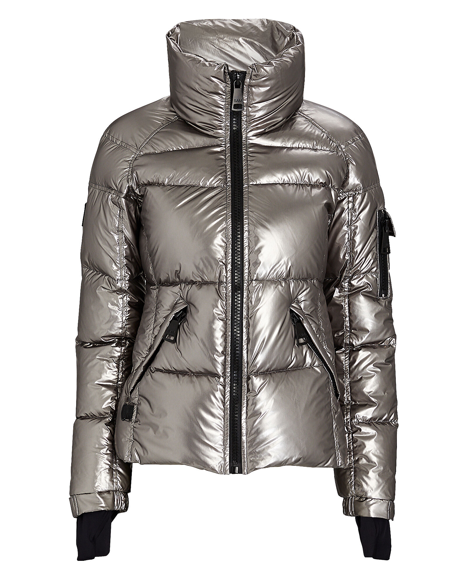 Freestyle Down Puffer Jacket, SILVER, hi-res