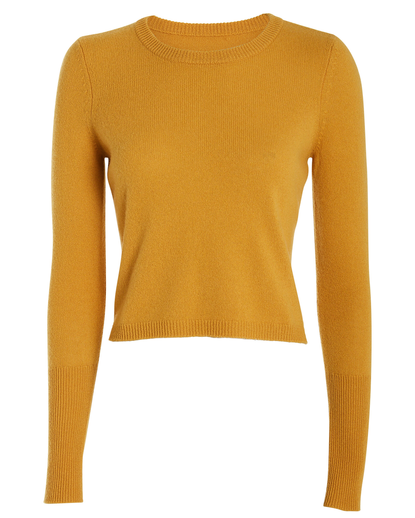 Valencia Cashmere Crewneck Sweater, YELLOW, hi-res
