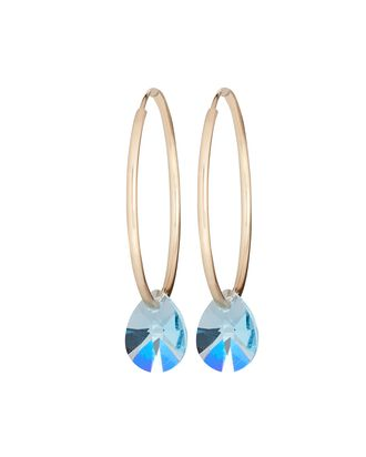 Lil Gem Hoop Earrings, LIGHT BLUE, hi-res