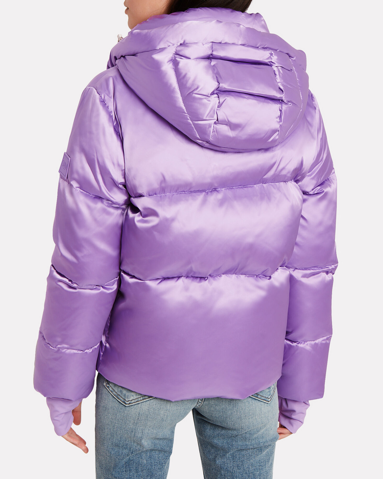 Sydney Satin Down Puffer Jacket, PURPLE-LT, hi-res