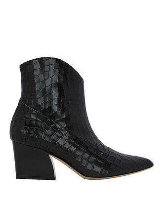 Dylan Embossed Booties, BLACK, hi-res