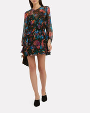 Ressey Dress, BLACK/BLUE/FLORAL, hi-res