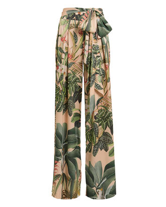 Paradise Printed Wide Leg Pants, BLUSH/GREEN, hi-res