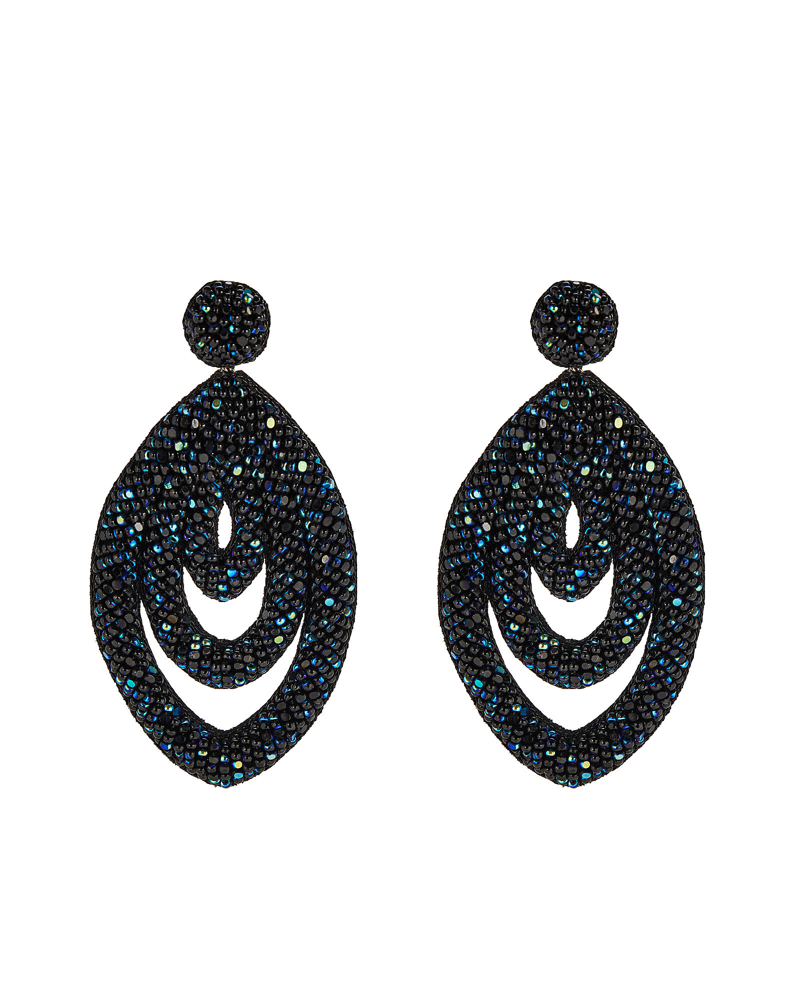 Deepa By Deepa Gurnani Winifred Earrings, BLACK, hi-res