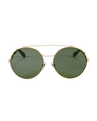 Brow Bar Oversized Round Sunglasses, GREEN, hi-res