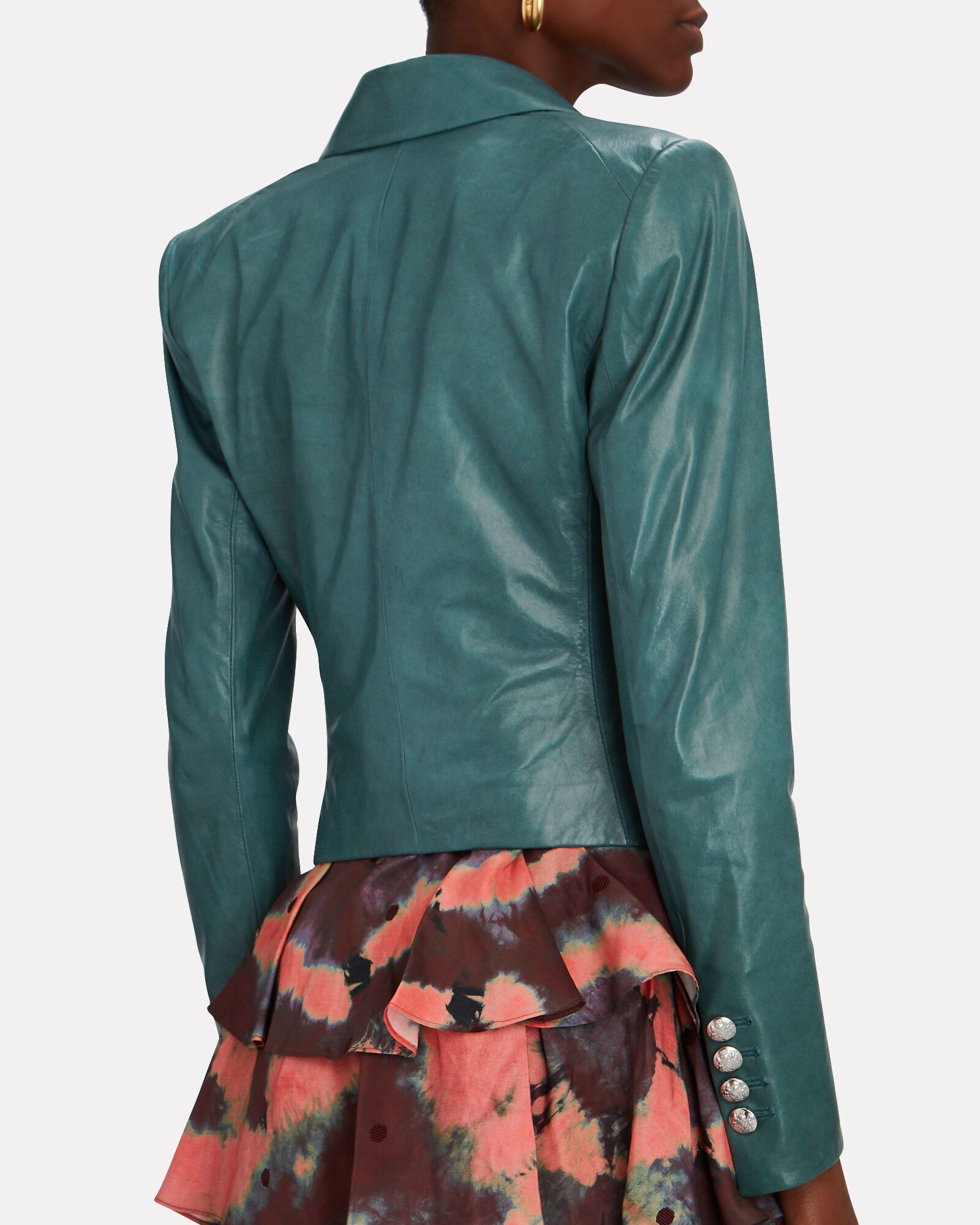 Cooke Leather Dickey Blazer, GREEN, hi-res