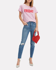 Friday Pink T-Shirt, PINK/RED, hi-res