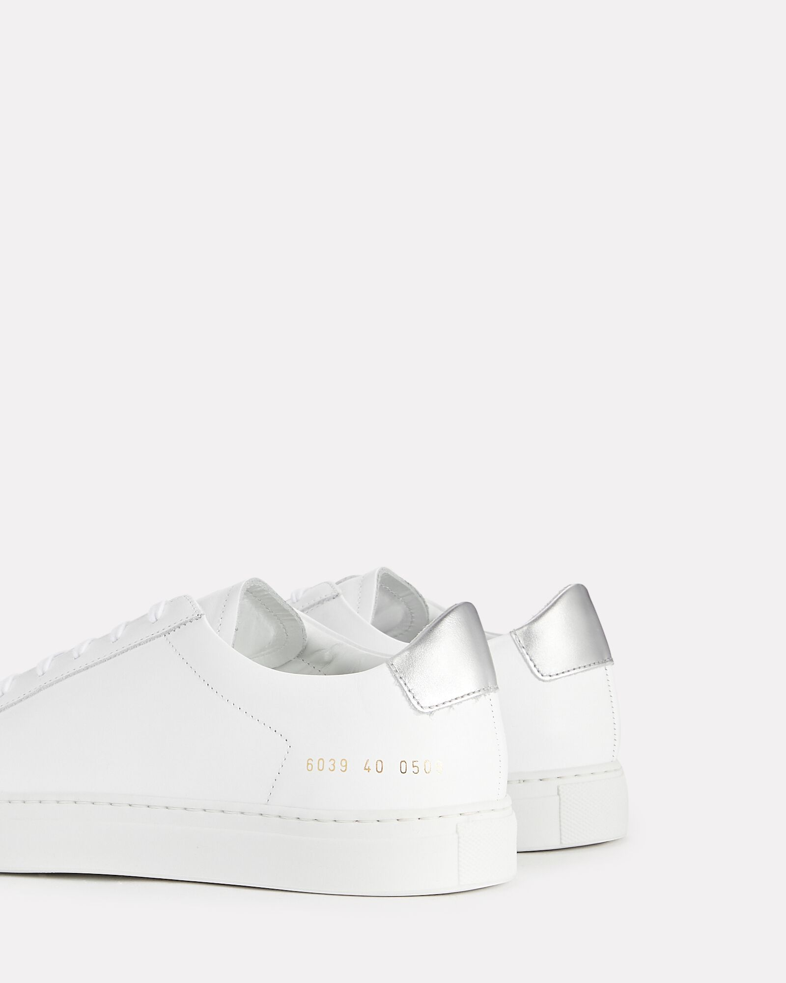 Retro Leather Low-Top Sneakers, WHITE, hi-res