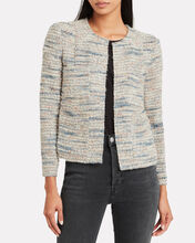 Belugo Tweed Jacket, BLUE-LT, hi-res