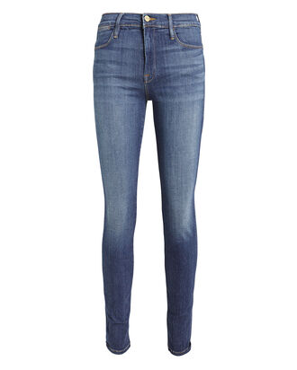 Le High Skinny Jeans, MEDIUM WASH DENIM, hi-res