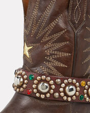 Embellished Wish Star Boots, CHOCOLATE, hi-res