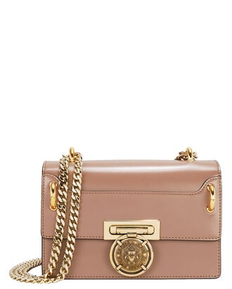 Box Leather Shoulder Bag, BLUSH, hi-res