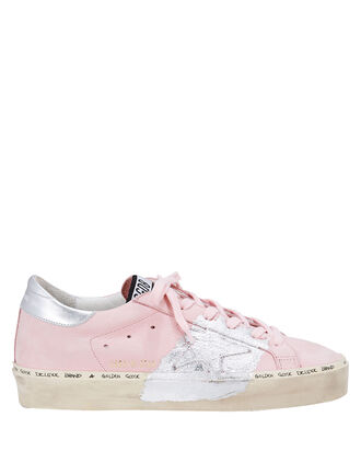 Hi Star Silver Paint Pink Leather Low-Top Sneakers, PINK, hi-res