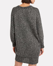 Sequined Oversized Sweater Dress, GREY, hi-res