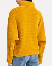 Recycled Velour Turtleneck Sweater, ORANGE, hi-res