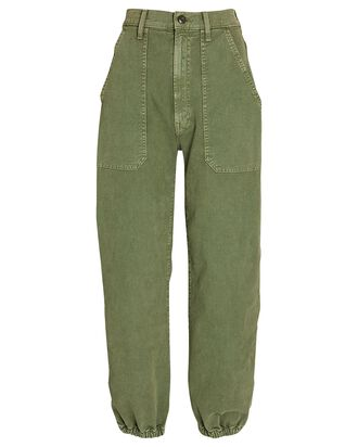 The Wrapper Patch Springy Ankle Jeans, AVOCADO, hi-res