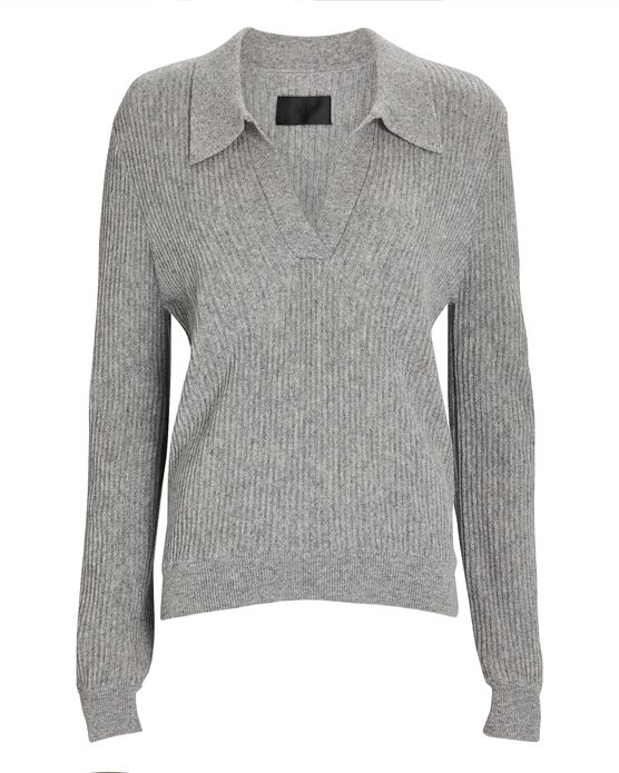 Rta Amalia Cashmere Polo Sweater