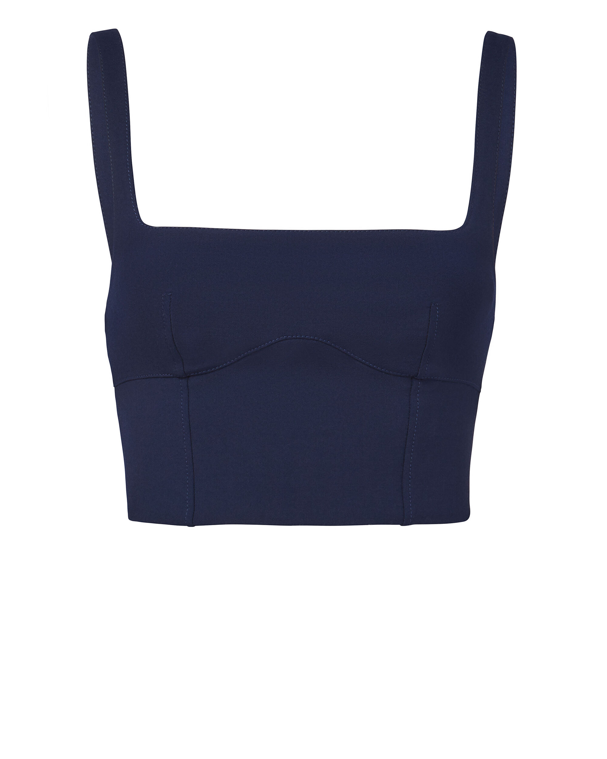 Double Wool Bustier Top, NAVY, hi-res