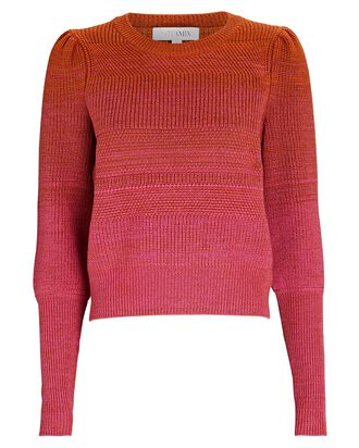 Lucia Ombré Wool Sweater, PINK, hi-res