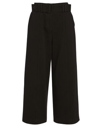 Franny Wide-Leg Cropped Pants, BLACK, hi-res