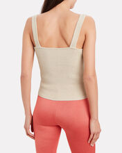 Morgan Lurex Knit Tank, GOLD, hi-res