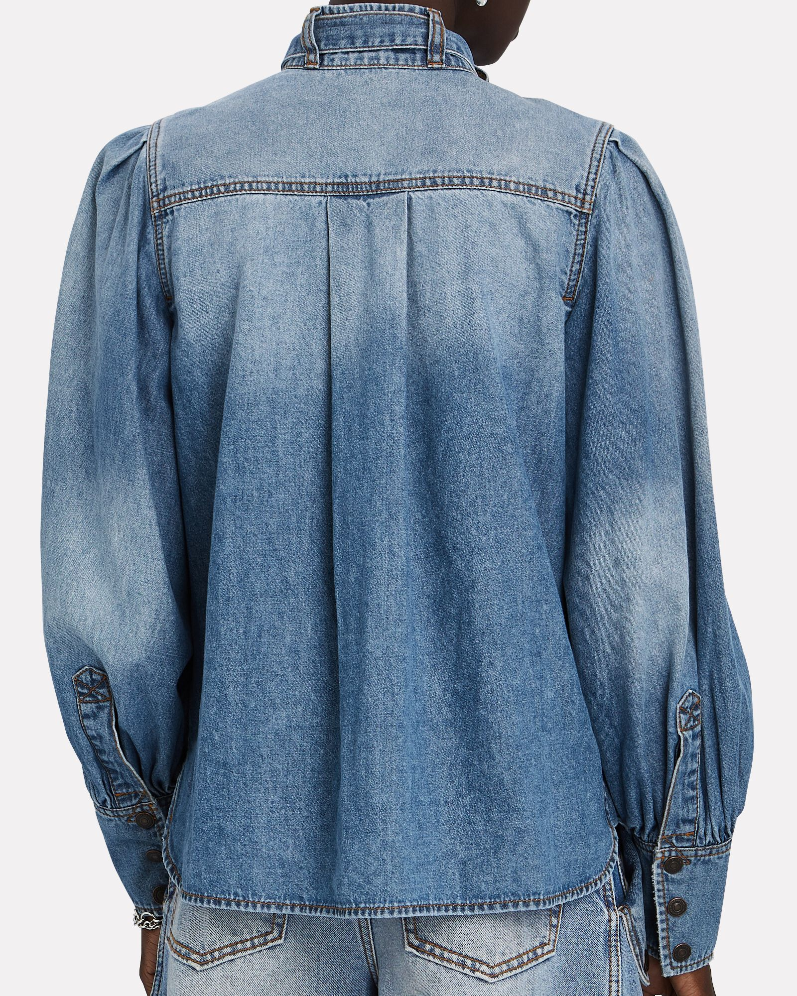 Vintage Stone Denim Shirt, DENIM, hi-res