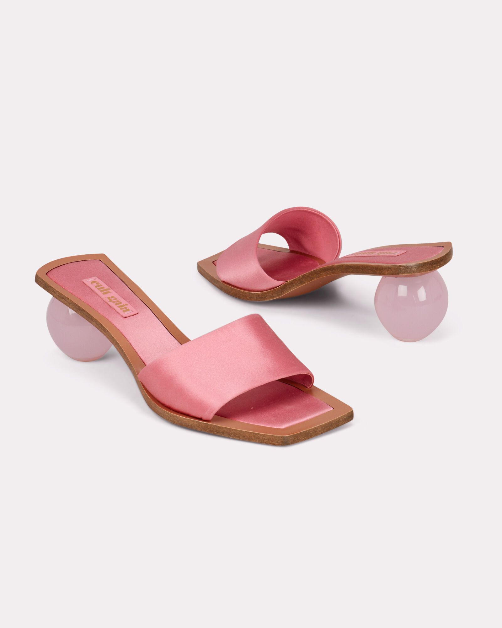 Tao Satin Ball Slides, PINK, hi-res