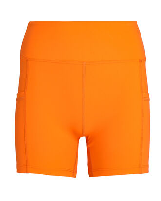 Short High-Rise Bike Shorts, ORANGE, hi-res
