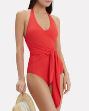 Elena One Piece Swimsuit, RED, hi-res