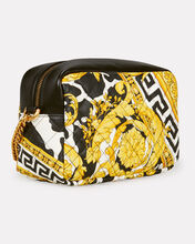 Quilted Classic Print Crossbody, BLACK/GOLD, hi-res
