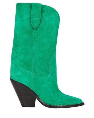 Laxime Suede Western Boots, GREEN, hi-res