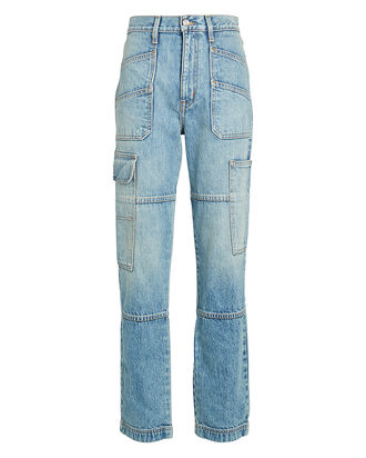 Savior High-Rise Cargo Jeans, SALTED FLATS, hi-res